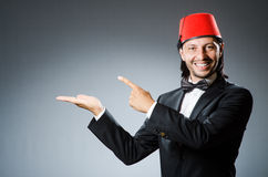 Man in traditional turkish hat Royalty Free Stock Photo