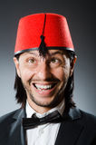 Man in traditional turkish hat Royalty Free Stock Photos