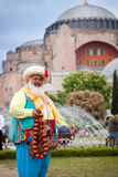 Man in traditional vintage Turkish costume Royalty Free Stock Photography