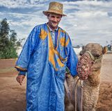 Man in traditionally Moroccan clothes. stock photography