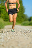 Man trail running on country road Stock Photography