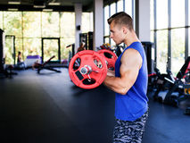 Man training the biceps Stock Photography