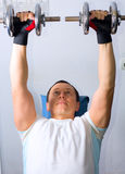 Man training in fitness center Royalty Free Stock Photography