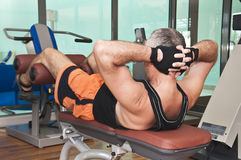 Man training in gym Royalty Free Stock Image