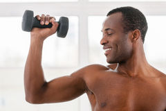 Man training in gym. Stock Image
