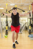 Man training in the gym Stock Photo