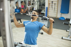 Man training in the gym Royalty Free Stock Image