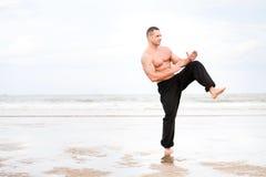 Man training karate Royalty Free Stock Photos
