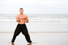 Man training karate Stock Image