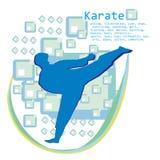 Man training karate , card Stock Image
