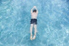 Man Training Swim Pool Stock Photography