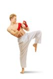Man training taekwondo Royalty Free Stock Photos