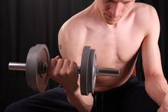 Man training with weight Royalty Free Stock Images