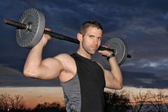 Man training with weight Stock Photos