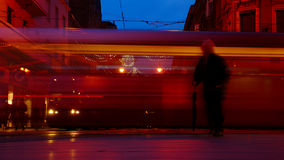 Man And Tram Stock Images