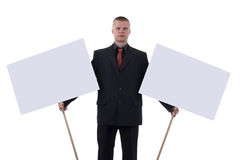 Man with transparencies. Stock Image