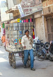 Man transports goods in Jodhpur Stock Photo