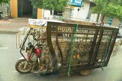 Man transports huge load Stock Images