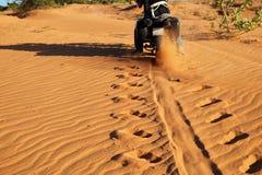 Man, travel, adventure nature, wheel tracks Stock Photos