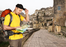 Man travel background Royalty Free Stock Image