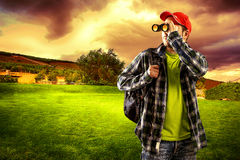 Man traveler Stock Photography