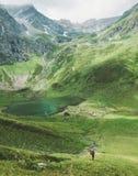 Man traveler mountaineering Travel adventure active lifestyle royalty free stock photos