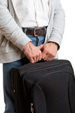 Man with a Traveling Bag Royalty Free Stock Photos