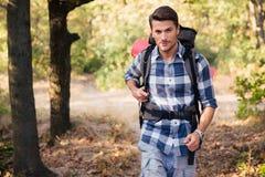 Man traveling outdoors Stock Photos