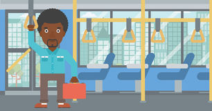 Man traveling by public transport. Stock Photography