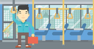 Man traveling by public transport. Royalty Free Stock Images
