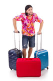 Man travelling with suitcases isolated Stock Photos