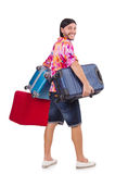 Man travelling with suitcases Stock Photography