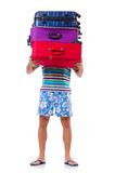 Man travelling with suitcases Royalty Free Stock Photos
