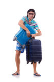 Man travelling with suitcases Stock Photos