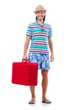 Man travelling with suitcases Stock Photo