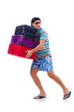 Man travelling with suitcases Royalty Free Stock Photography