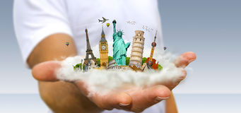 Man travelling the world Royalty Free Stock Image