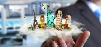 Man travelling the world Stock Images