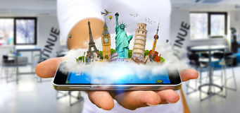 Man travelling the world Royalty Free Stock Images