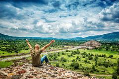 Man travels to Mexico royalty free stock photos