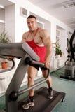 Man on treadmill Royalty Free Stock Image