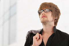 Man trendy handsome Royalty Free Stock Images