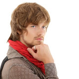 Man trendy handsome isolated on white Stock Photography