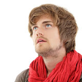 Man trendy handsome isolated on white Royalty Free Stock Image
