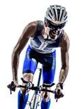 Man triathlon iron man athlete cyclist bicycling stock photography