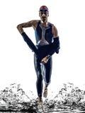 Man triathlon iron man athlete swimmers running Royalty Free Stock Photography