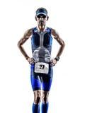 Man triathlon ironman athlete runners running Royalty Free Stock Images