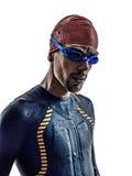 Man triathlon ironman athlete swimmers portrait Stock Images