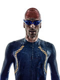 Man triathlon ironman athlete swimmers portrait Royalty Free Stock Photos