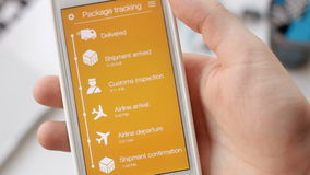 Man tries to track his package using smartphone application but the shipment is canceled.